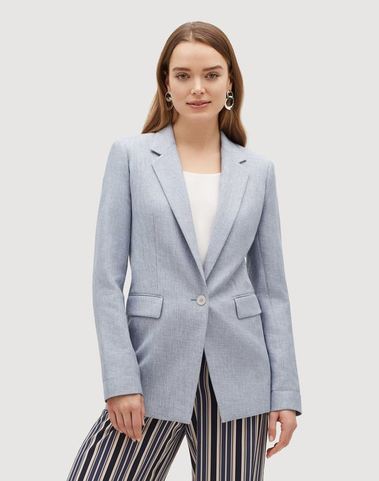 Plus-Size Brilliance Cloth Rhoda Blazer