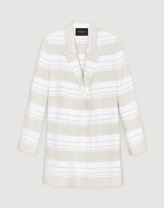 Plus-Size Gesso Stripe Malika Jacket