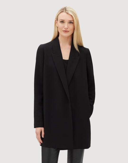 Plus-Size Finesse Crepe Malika Jacket