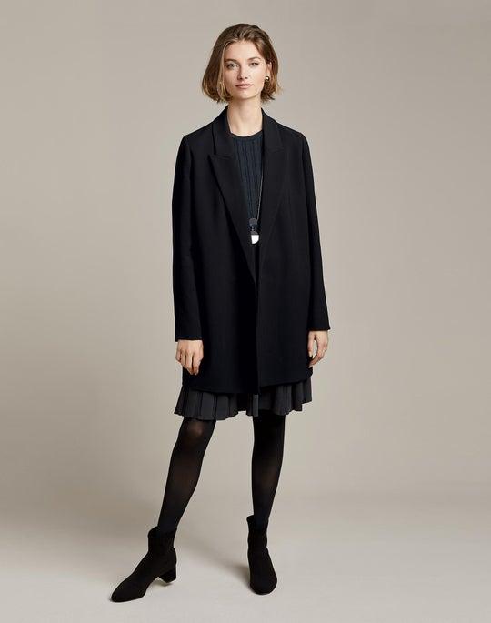 Malika Jacket and Structured Rib Sweater Dress