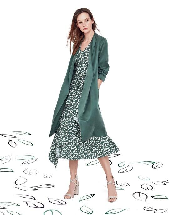 Long Brinsley Jacket and Teslon Dress