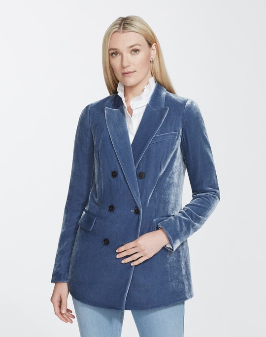 Plus-Size Classic Velvet Slade Jacket