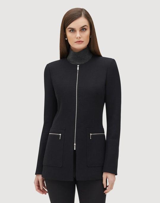 Petite Nouveau Crepe Landon Jacket