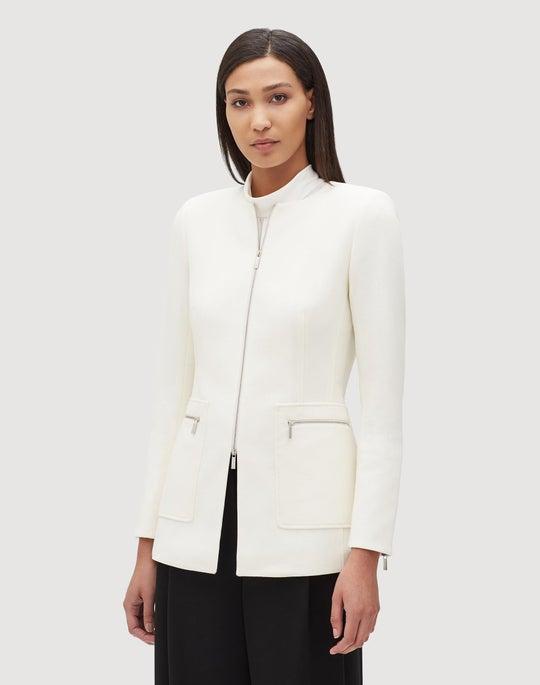 Plus-Size Nouveau Crepe Landon Jacket