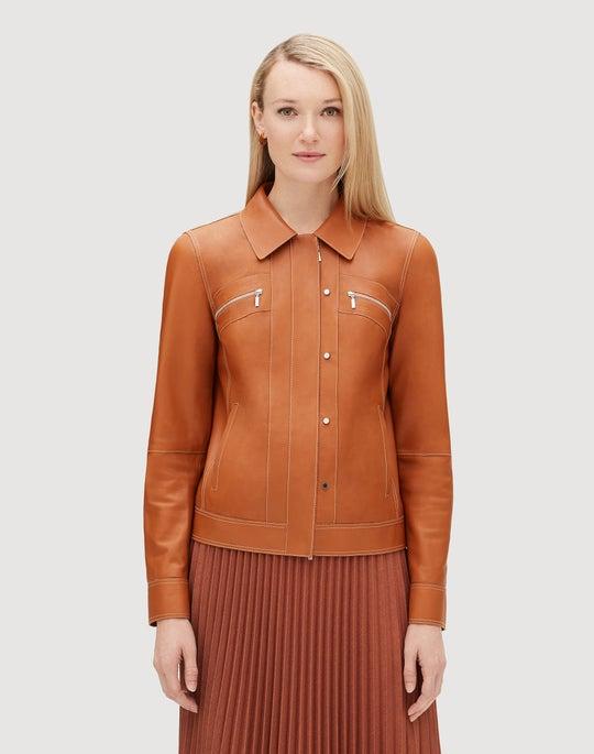 Petite Plonge Lambskin Kesha Jacket