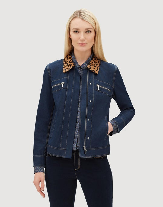 Plus-Size Italian Primo Denim Kesha Jacket
