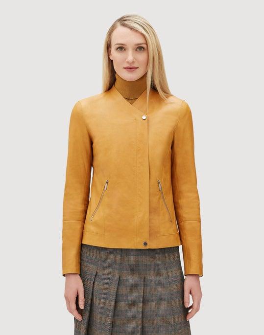 Glazed Weightless Lambskin Devlin Jacket