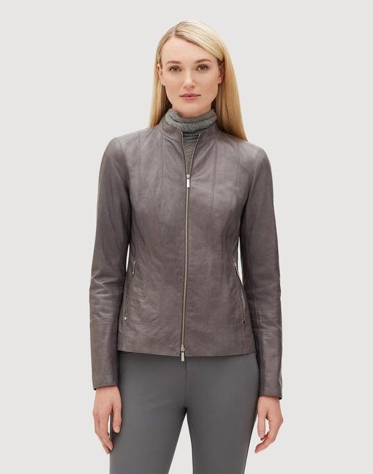 Glazed Weightless Lambskin Sadie Jacket