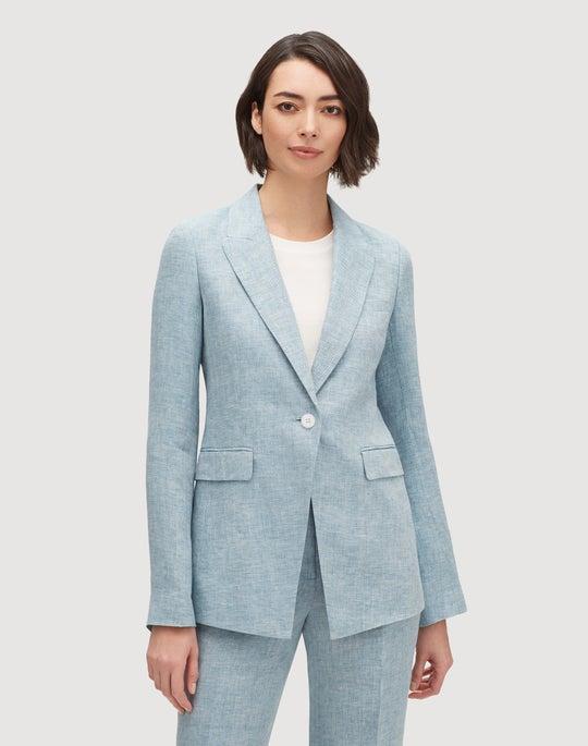 Plus-Size Bravado Italian Linen Heather Jacket