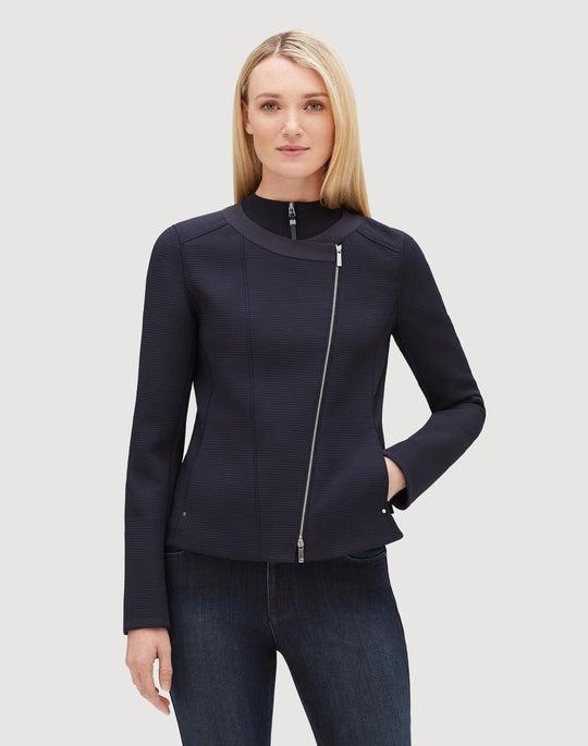 Embossed Grid Cloth Trista Jacket