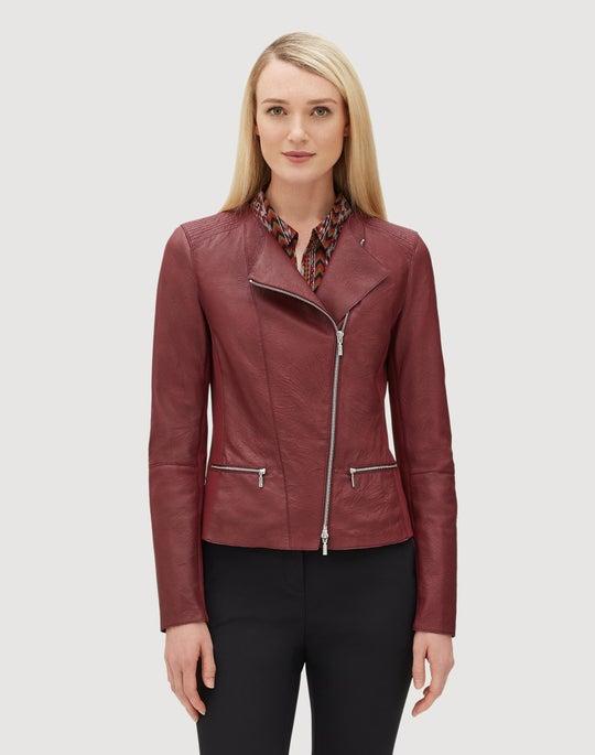 a41805d4682 Plus-Size Weathered Lambskin Trista Jacket