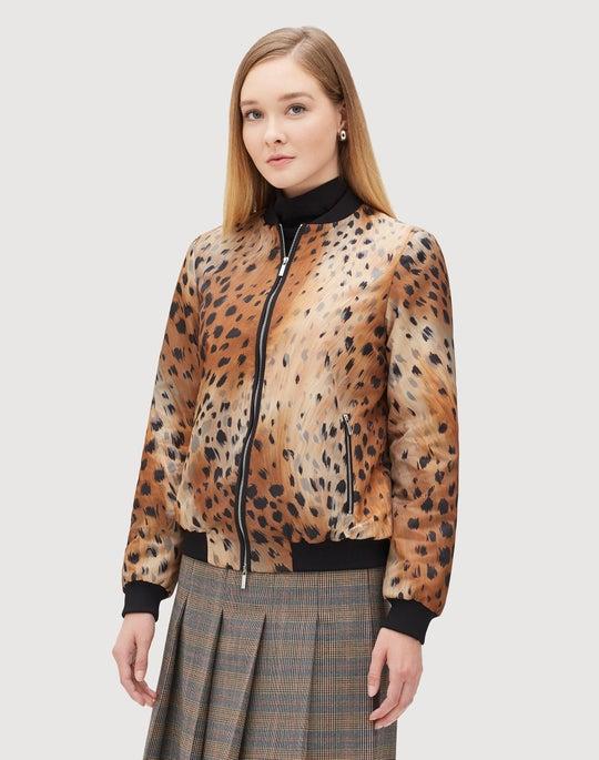Agave Leopard Tech Cloth Melrose Bomber