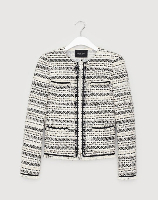 Modulated Tweed Benji Jacket