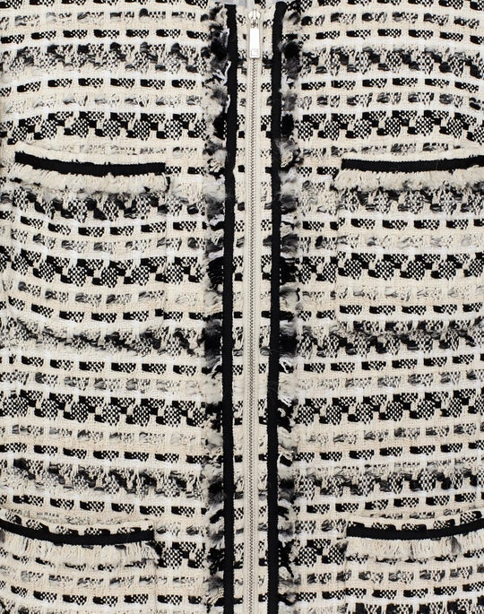 Plus-Size Modulated Tweed Benji Jacket