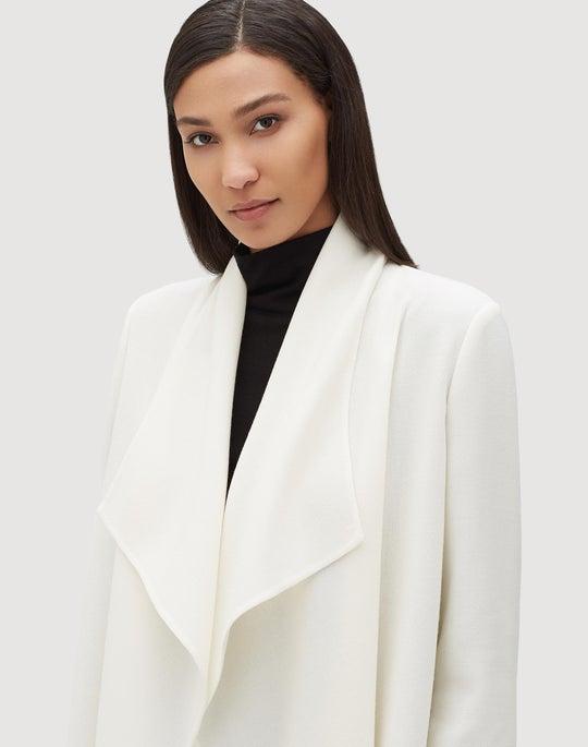 Plus-Size Nouveau Crepe Hemingway Jacket