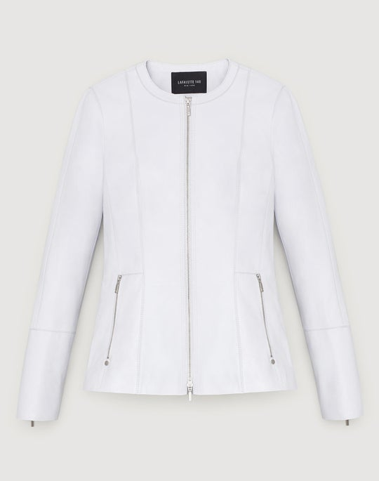 Plus-Size Plonge Lambskin Janella Jacket