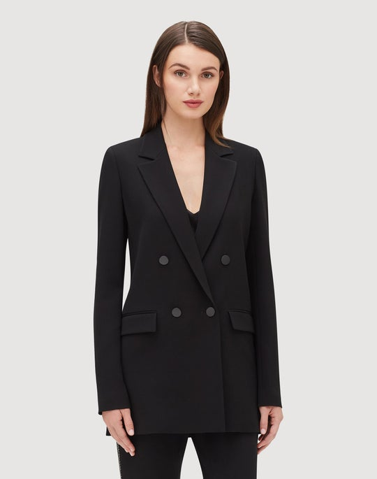 Plus-Size Finesse Crepe Britton Jacket