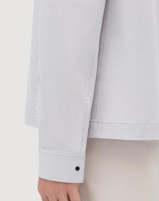 Plus-Size Italian Bi-Stretch Pima Cotton Jaren Jacket