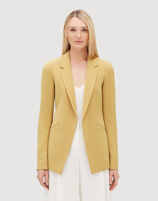 Plus-Size Finesse Crepe Luther Jacket