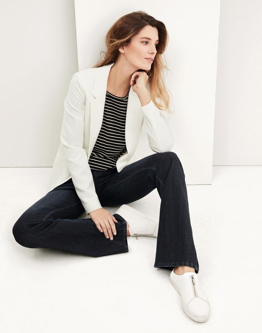 Luther Jacket and Mercer Flare Jean