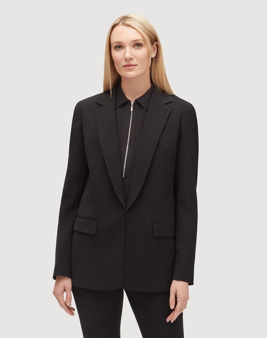 Plus-Size Finesse Crepe Langley Jacket