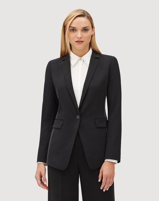 Petite Sleek Tech Cloth Roman Jacket