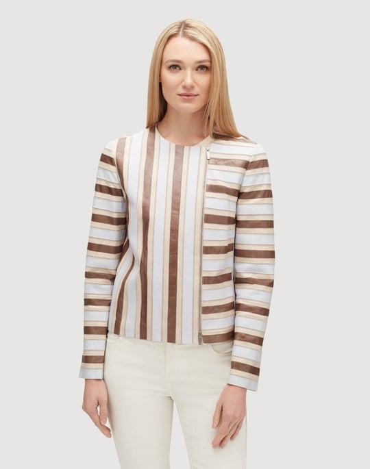 Glazed Weightless Lambskin Kaydon Jacket
