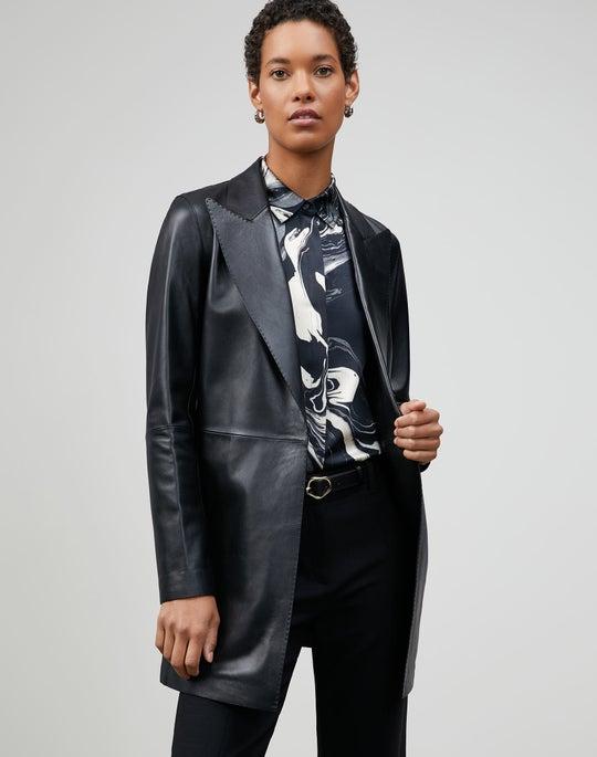 Plus-Size Italian Plonge Lambskin Kourt Jacket