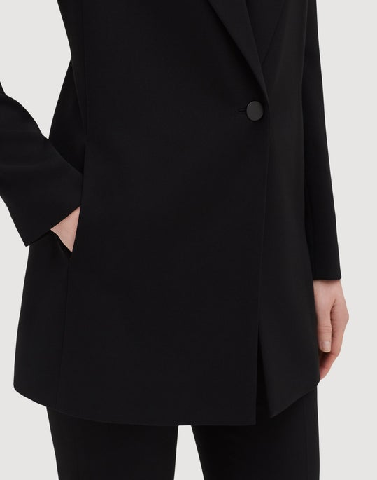 Plus-Size Finesse Crepe Kourt Jacket