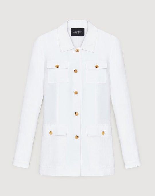 Petite Metropolis Linen Tamaya Jacket