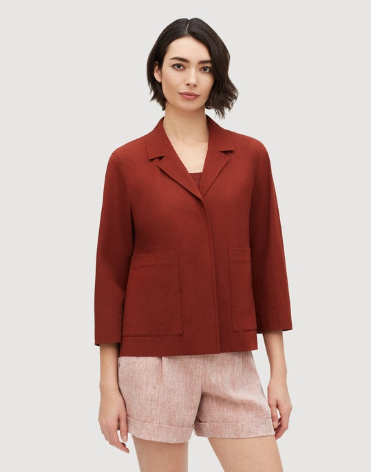 Petite Italian Bi-Stretch Pima Cotton Layken Jacket