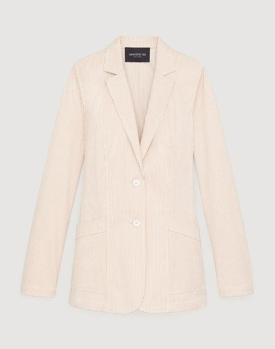 Majestic Micro Stripe Boston Jacket