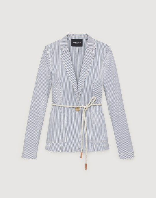 Petite Empire Stripe Ambrose Jacket