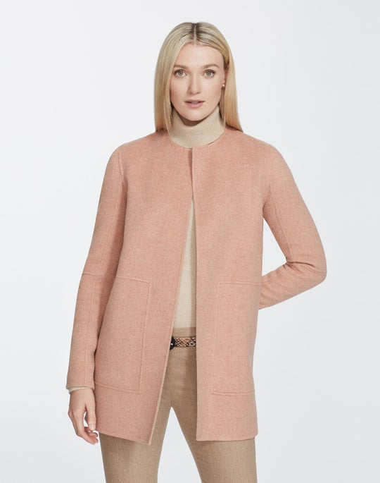 Plus-Size Two-Tone Double-Face Reversible Rowena Jacket