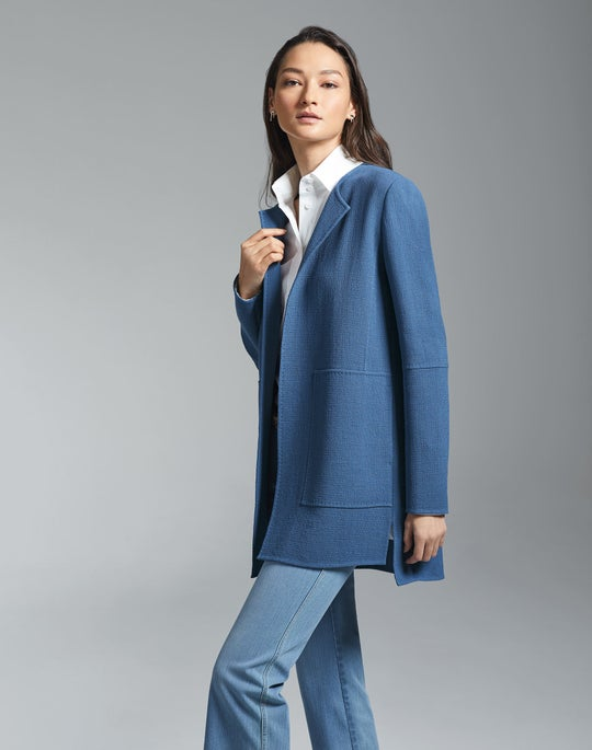 Rowena Jacket and Cropped Mercer Flare Jean