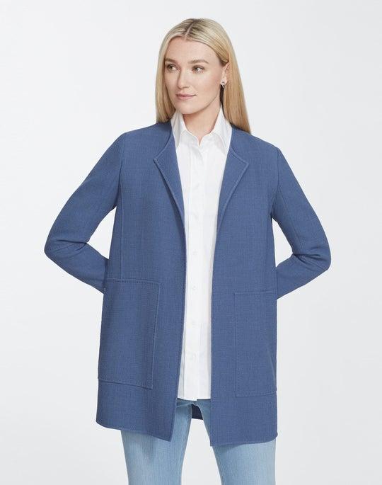 Plus-Size Nouveau Crepe Rowena Jacket