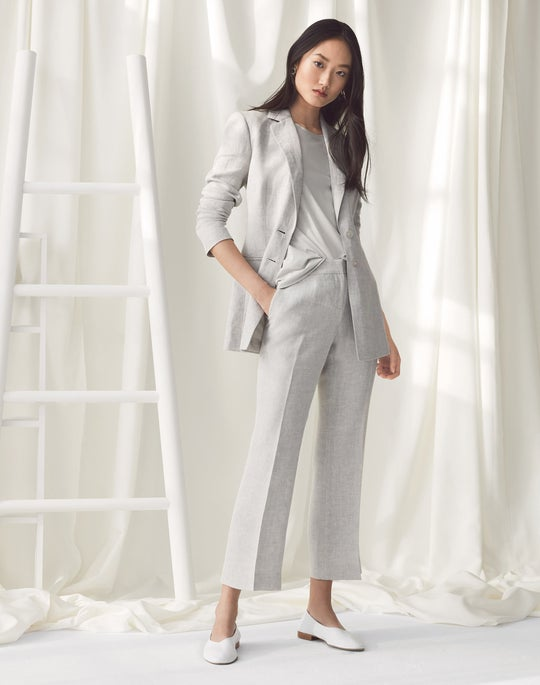 Genova Blazer and Cropped Manhattan Flare Pant