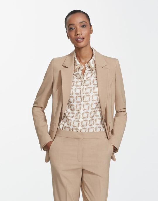 Plus-Size Italian Stretch Wool Trixie Jacket