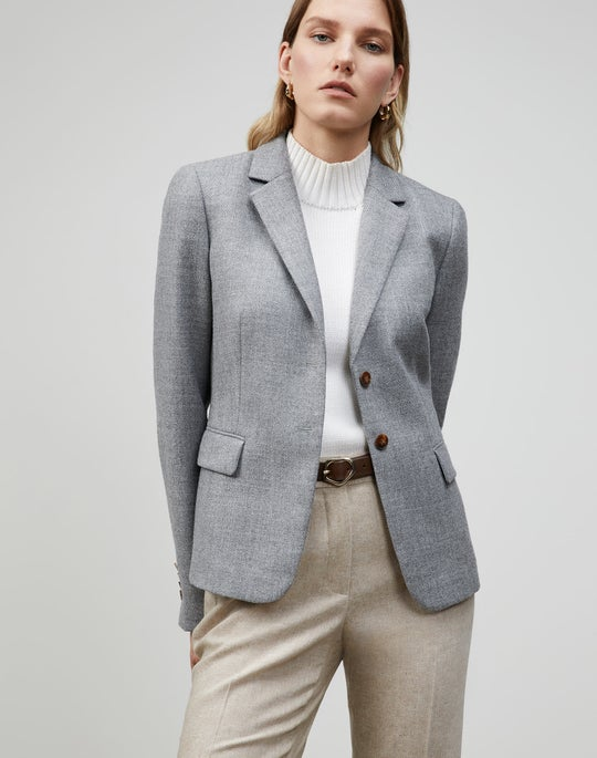 Petite Euphoric Mélange Cloth Thatcher Blazer