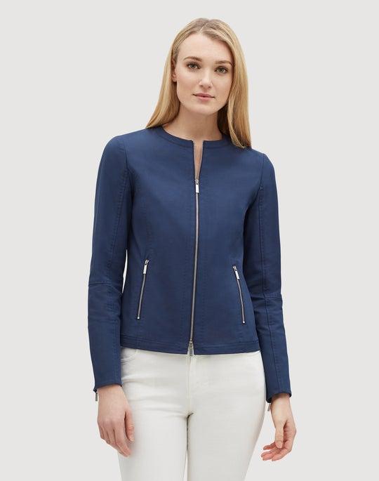 Plus-Size Fundamental Bi-Stretch Agate Jacket