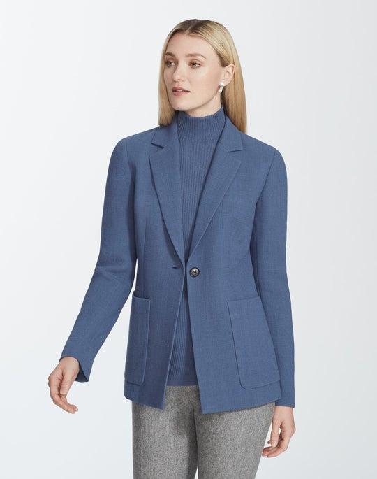 Plus-Size Nouveau Crepe Nazelli Jacket