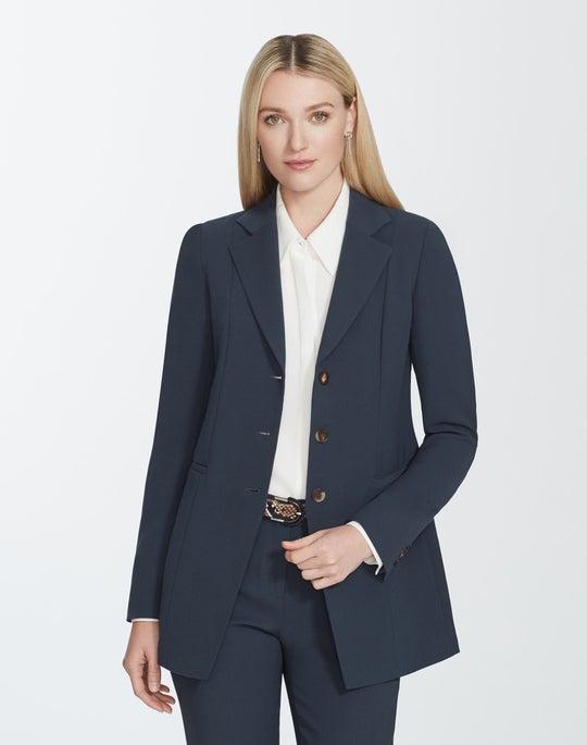 Plus-Size Finesse Crepe Jaqueline Blazer