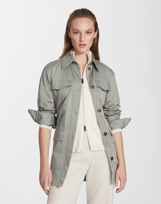 Plus-Size Skylight Cotton Windom Shirt Jacket