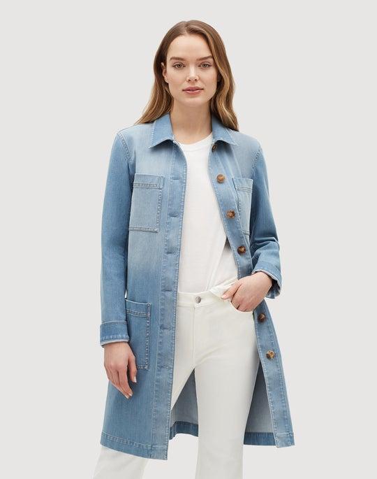 Plus-Size Prestige Denim Corinthia Jacket