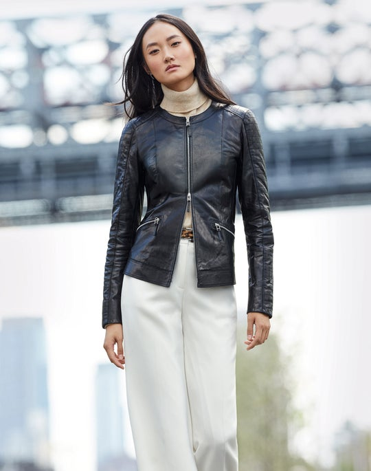Quilted Everly Jacket and Dalton Wide-Leg Pant