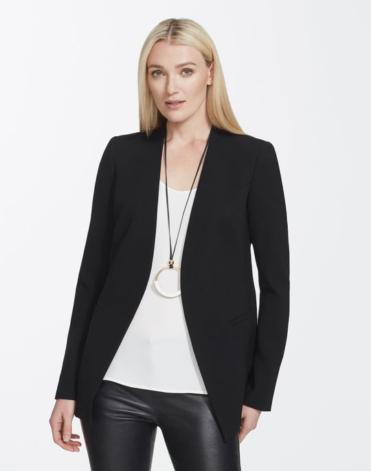 Plus-Size Finesse Crepe Miranda Jacket