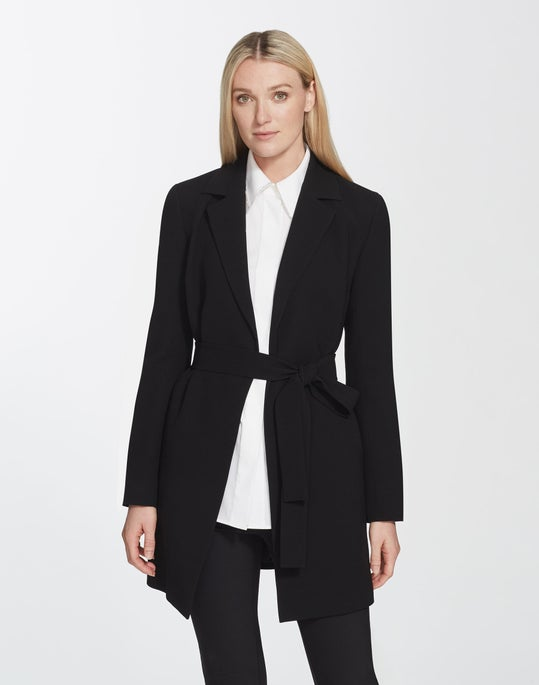 Plus-Size Finesse Crepe Kidman Jacket