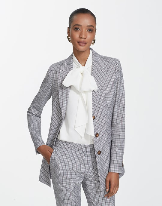 Tattersall Mini Check Maggie Blazer