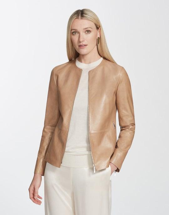 Lacquered Lambskin Kayla Jacket