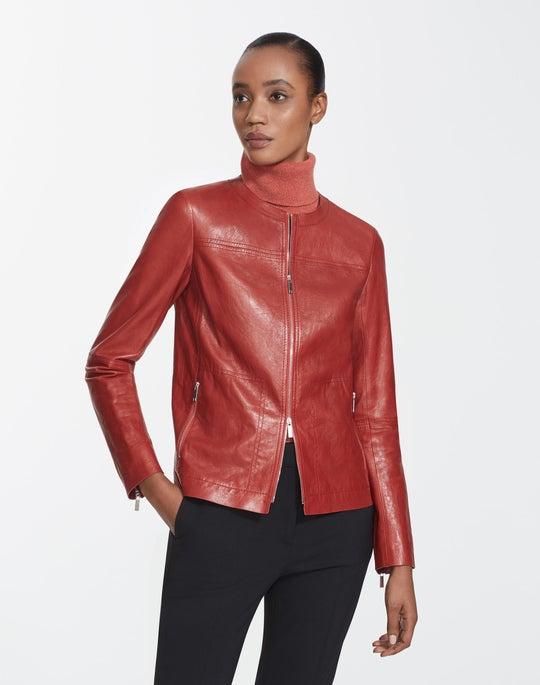 Glazed Weightless Leather Juno Jacket